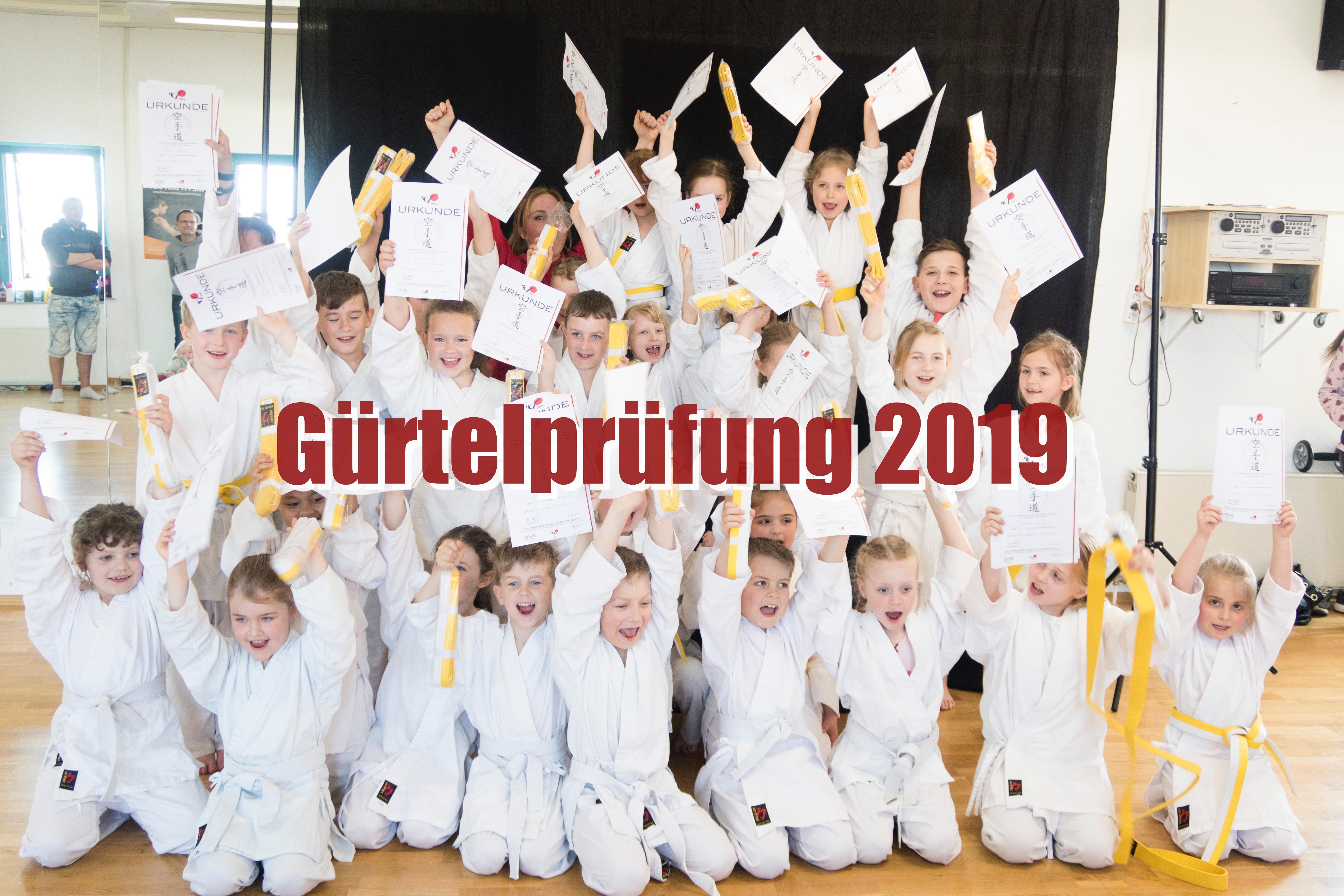 Gürtelprüfung 2019